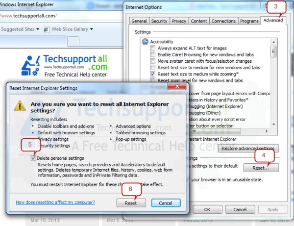 Internet Explorer Reset2