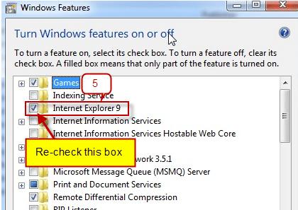 Reinstall Internet Explorer5