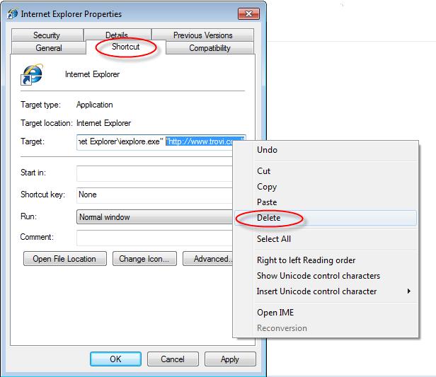 Trovi.com-shortcut-removal-help