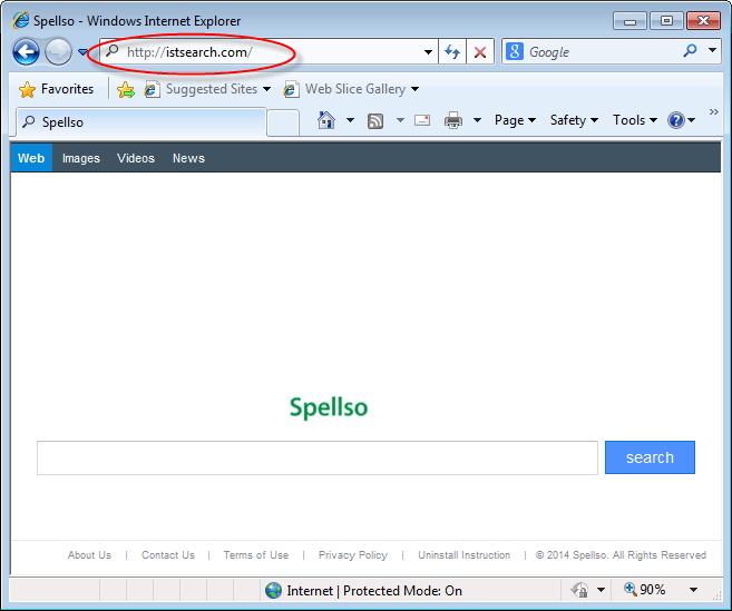 Spellso or istsearch.com browser hijacker is a Adware that changes