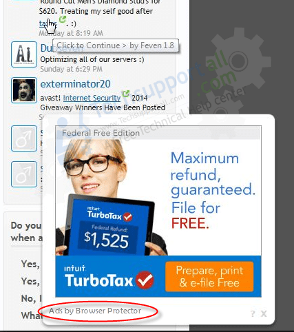 Ads by browser Protector removal help