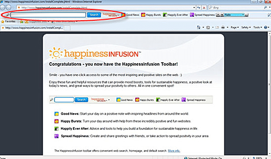 Removal of HappinessInfusion toolbar