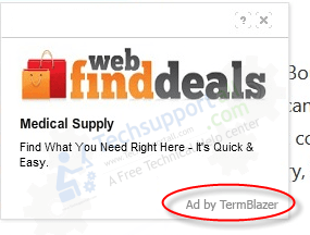 Termblazer popup ads Image