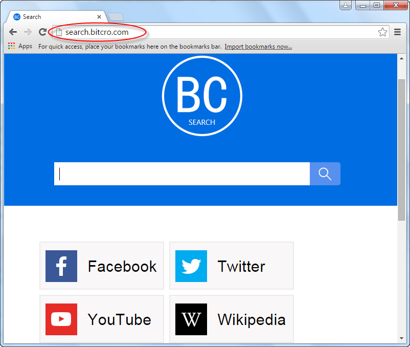 Search.bitcro.com Homepage Image