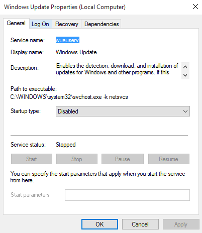how to stop win 10 downloading updates