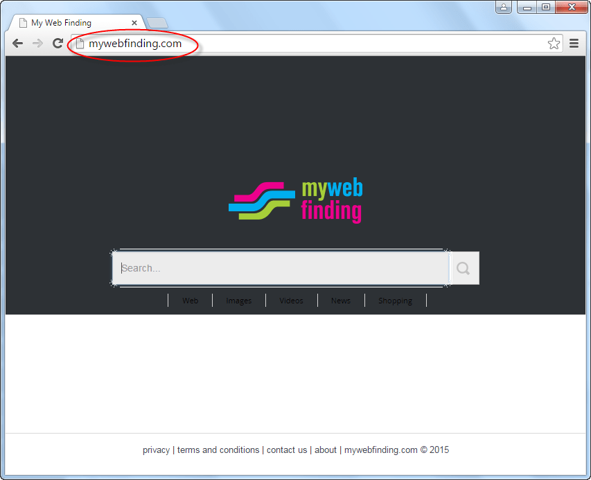 Mywebfinding.com Homepage Image