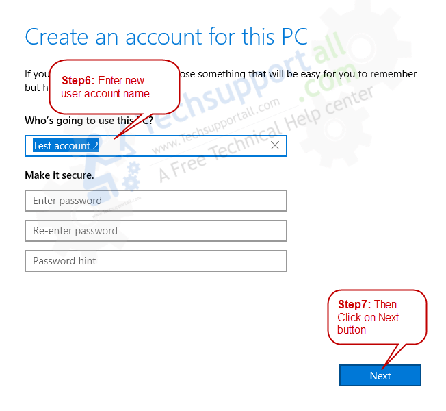 Create a New Local User Account in Windows 10 - Step4