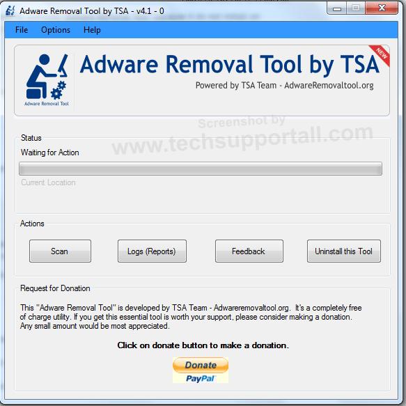 TSA Adware Removal Tool