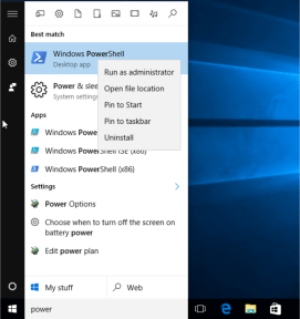 PowerShell to uninstall Apps