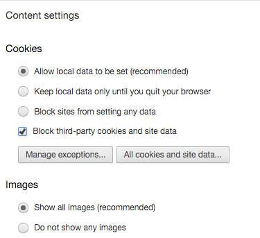 Remove Cookies from Chrome