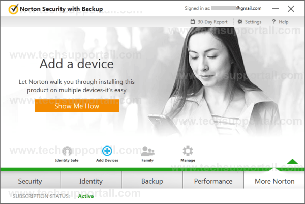 Norton Security Device management