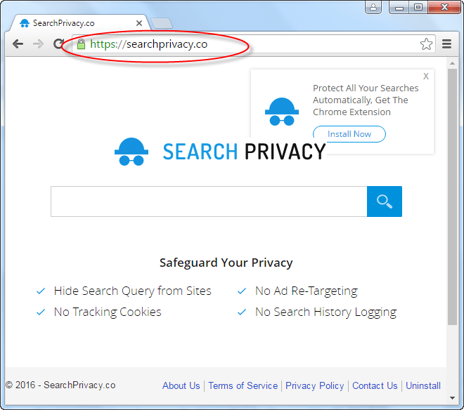 Searchprivacy.co Hompage Image