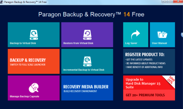 paragon backup and recovery Free