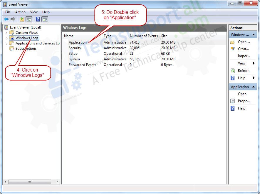 how to check computer error logs  event viewer logs