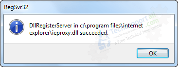 ieproxy.dll registered successfully