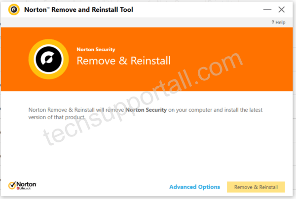 Norton Remove tool