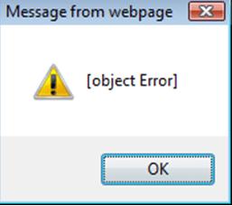 object error