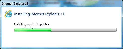 installing IE10 update