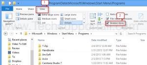 How to show hidden files (1)