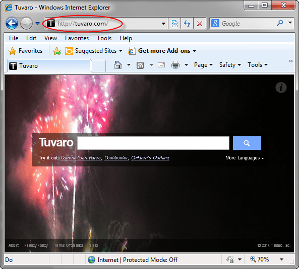 Tuvaro-search-page-screenshot