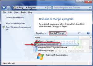 windows-live-essential-family-saftey-uninsatll-step1