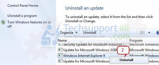 Reinstall Internet Explorer7