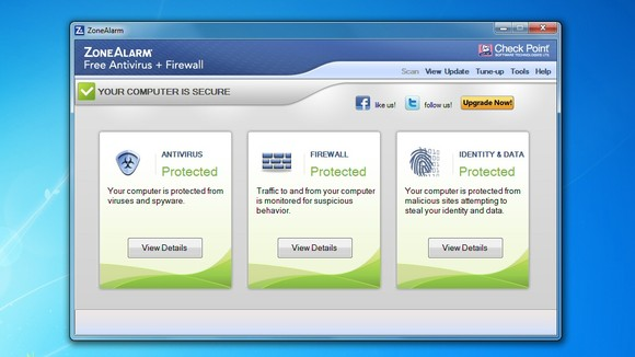 zoneAlarm Free antivirus download