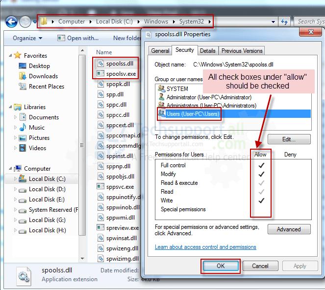 Spoolsv. Exe error windows xp sp3.