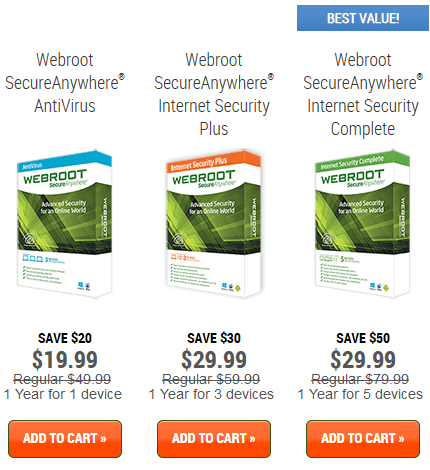 Webroot discount coupon
