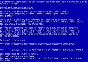 Fix blue screen error