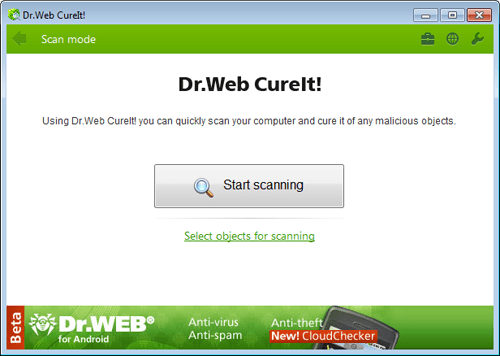 Dr web cureit download on demand scanner