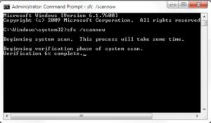 SFC command to fix windows explorer has stopped