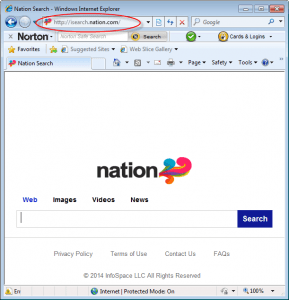 isearch.nation.com-homepage-screenshot