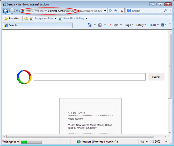 Websearch.calcitapp.info-homepage-removal-instruction