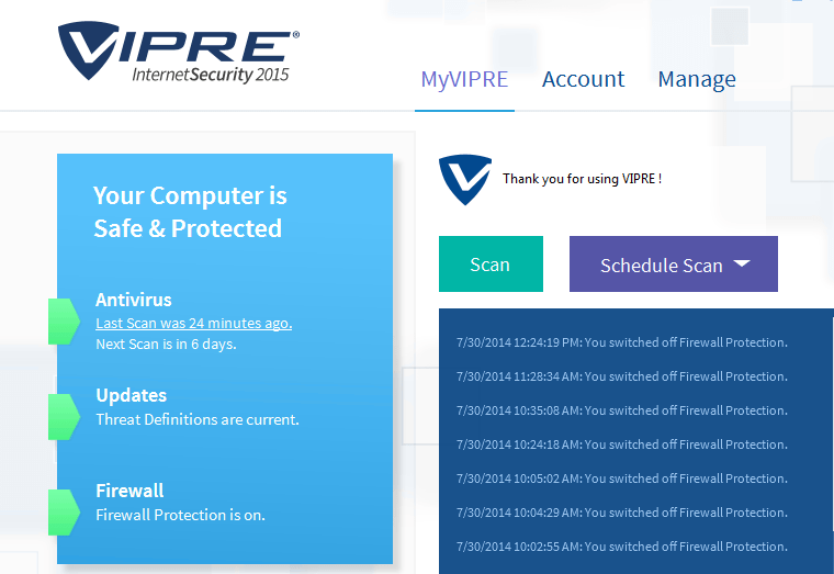 Vipre Internet Security 2015