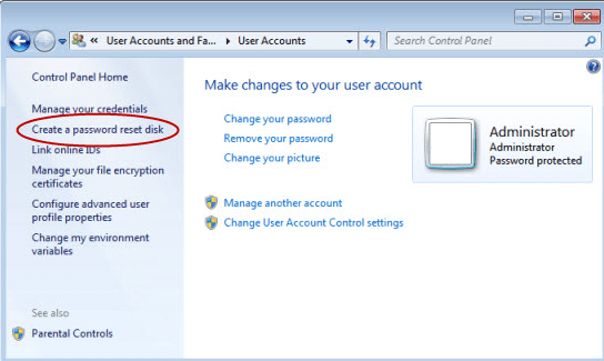 How to create a Windows Password Reset Disk