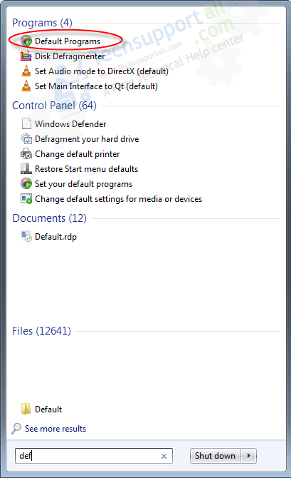 How to set your default programs in Windows how to step1