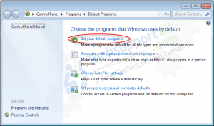 How to set your default programs in Windows how to step2