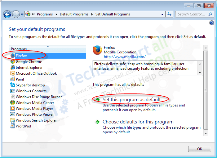How to set your default programs in Windows how to step3