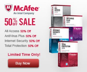 McAfee 50 discount