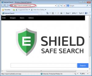 Search.eshield.com Homepage Image