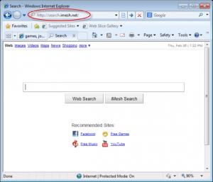 Search.iMesh.net homepage image