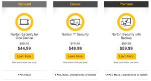 Norton Security Products and comparison