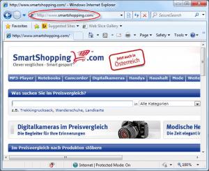 Smartshopping.com Homepage Image