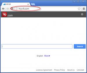 Myv9.com Homepage Image