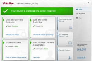 McAfee Live Safe Internet Security 2015