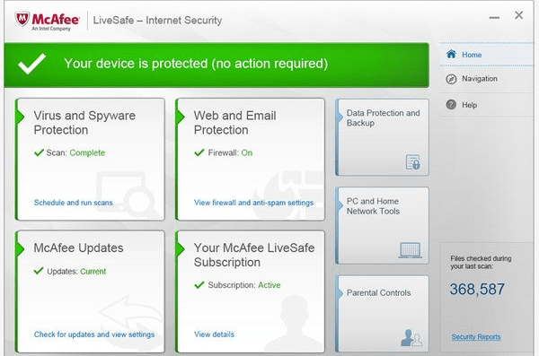 McAfee Live Safe Internet Security 2015