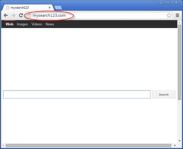 Mysearch123.com Homepage Image