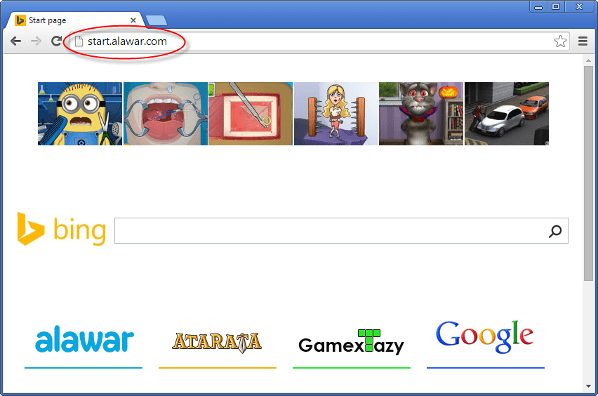 Start.alawar.com Homepage Image