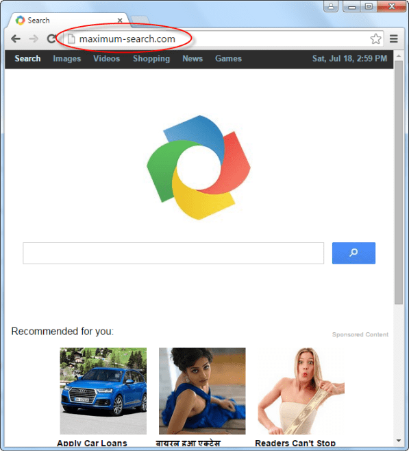 Maximum-search.com Homepage Image